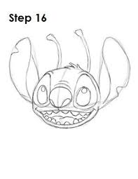 Draw Stitch Step 16 ディズニーキャラクター Dibujos De Disney