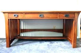 desks mission style desk writing corner oak furniture craftsman antique