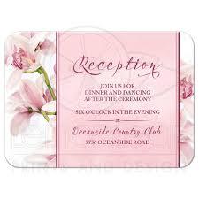 wedding reception card orchid wedding reception card elegant pink burgundy