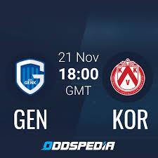 KRC Genk - KV Kortrijk Live Stream » Quoten, Statistiken & Wetten