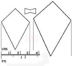 Best Photos Of Kite Bow Template - Kite Bow Pattern, Kite Template ...