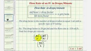 Ex Iv Calculation Drops Per Minute