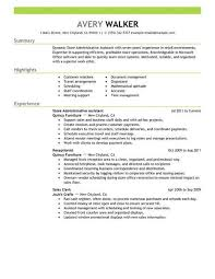 Best Resume For Administrative Assistant Best Store Administrative Assistant Resume Example From