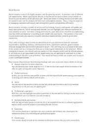Cover Letter Sample Resume Retail Sample Resume Retail Job Best
