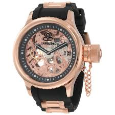 men s skeleton watches by invicta rougois adee kaye charles invicta men s 1090 russian diver mechanical skeleton dial watch