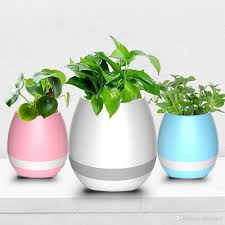 office flower pots. New Model Creative Smart Bluetooth Speaker Music Flower Pots Home Office Decoration Green Plant Vase Touch Induction Hide Q