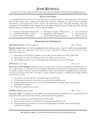 Executive Chef Resume Template Fancy Executive Chef Resume