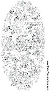 Hard Printable Coloring Sheets Pages Of Flowers Difficult Mandala