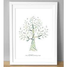 personalised family tree print  on personalised wall art family tree with personalised family tree art print
