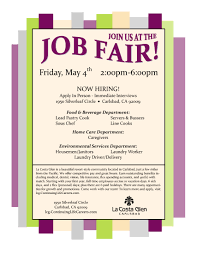 job fair flyer template teamtractemplate s la costa glen job fair 54 aicasd career services aezsqmiz