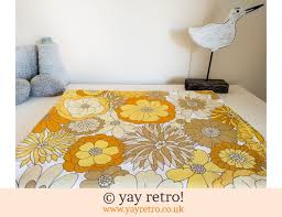 yellow flower power m s vintage daisy sheet 21 50