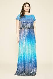 Tadashi Size Chart Walker Short Sleeve Ombre Sequin Gown Plus Size Tadashi