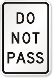 Do Not Pass Traffic Sign R4 1 Sku X R4 1