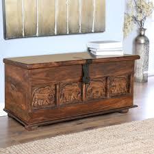 Buy Tuskar <b>Solid</b> Wood <b>Storage Trunk</b> in Walnut Colour by ...