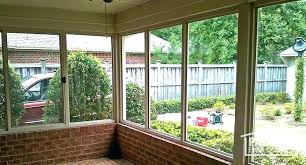 patio room ideas porch enclosure with existing brick knee wall and foundation interior enclosed rooms kits