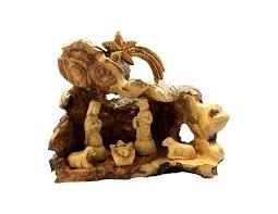 olive wood nativity grotto set na105 holy land olive wood bethlehem olive wood factory