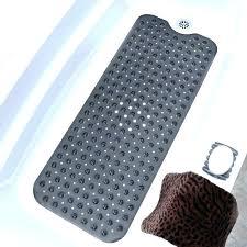 shower mat with drainage holes rubber bath mats non slip extra long bathtub square drain hole