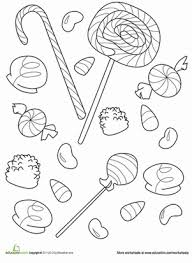 candy coloring page. Interesting Page Lollipops Gum Drops And Jellybeans Everybody Loves Candy Satisfy Your  Sweet Tooth With This Fun Candy Coloring Page For Candy Coloring Page I