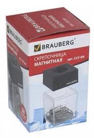 """<b>Скрепочница</b> ""<b>BRAUBERG</b>"" с 30 скрепками (225189)"" купить ..."