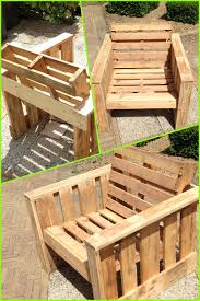 Self made chair, made completely from old pallets. Recycle upcycle  reclaimed wooden garden furniture DIY Re-purpose those pallets that are  destined for the ...