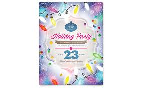 Holiday Templates Holiday Party Flyer Template Word Microsoft Office Holiday Templates