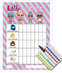 Lol Surprise Childrens Potty Training Reward Chart