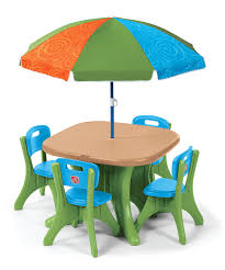 kidkraft outdoor espresso table and stacking chairs with striped