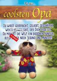 Geschenk Mitbringsel Karte Glücksbringer Besteropa Opa Opi