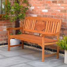 wido 3 seater garden fence bench with poppy flower memorial commemorative plaque co uk kitchen home