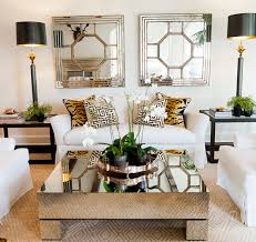 greek key sisal white slipcovered furniture animal print and mirrored coffee table mirrored coffee table sets