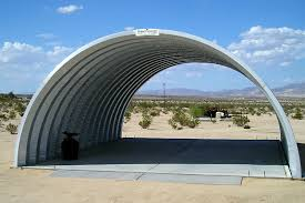quonset huts steel vehicle cover in the desert