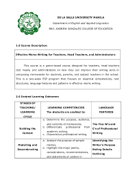 Sample Of Memos Doc Effective Memo Writing For Teachers Head Teachers And