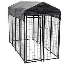 homemade dog kennels 2. 8-ft X 4-ft 6-ft Outdoor Dog Kennel Box Kit Homemade Kennels 2