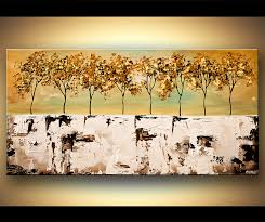 abstract giclee print on canvas on winter blooms ii canvas wall art with painting abstract landscape blooming trees palette knife 6789