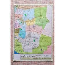โปสเตอร์ติดผนัง แผนที่กรุงเทพและปริมณฑล ฝั่งตะวันออก