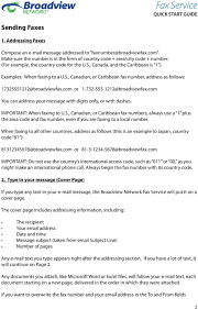 Example Of A Fax Message Fax Service Quick Start Guide Pdf
