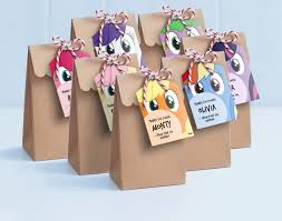 My Little Pony Lollie Bag Tags - Printable Loot Bag Tags / My Little Pony  Labels