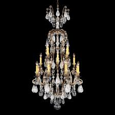 renaissance rock 16 light crystal chandelier finish antique pewter crystal color combination of