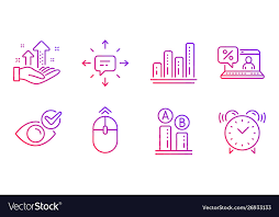 Graph Chart Online Ab Testing Online Loan And Graph Chart Icons Set