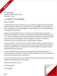 Dental Hygiene Cover Letter Sample Cover Letter Sample Pinterest