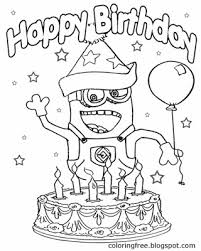 Small Picture Cake Coloring Pages Minions Coloring Coloring Pages