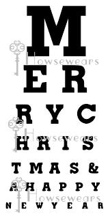Wall Words Eye Chart Merry Christmas Vinyl Original