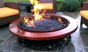 small gas fire pit round table rou