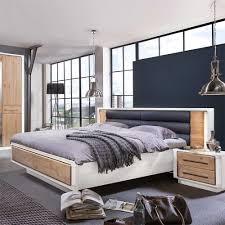 Schlafzimmer Bett Vronjic In Weiß Eiche Bianco Wohnende