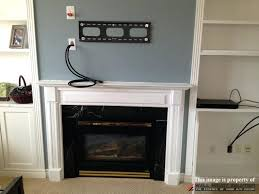 hiding tv over fireplace figure 1 hide tv wires brick fireplace