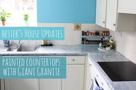 Painted kitchen counters with Giani Granite, Hester's House Updates -  YouTube