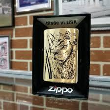 <b>Зажигалка Zippo</b> Brushed Brass 204B Proud Lion – купить в Уфе ...