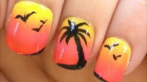 Palm Tree Nail Art Tutorial - YouTube