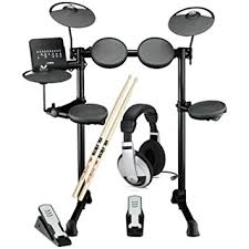 yamaha dtx400k. yamaha dtx400k 5-piece electronic drum kit w/headphones and sticks dtx400k