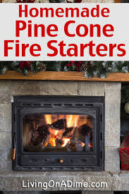 these homemade pinecone and sawdust firestarters make it easy to start fires and they make the